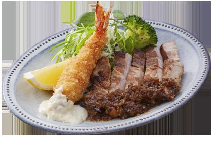 洋食あじと 海老フライ&トンテキ